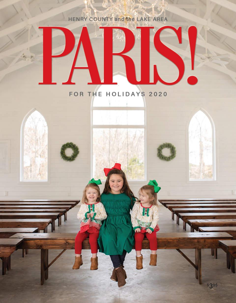Paris magazine holiday cover